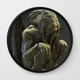 Cthulhu Statuette II Wall Clock