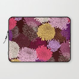 Autumn garden of chrysanthemums Laptop Sleeve