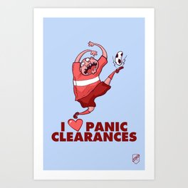 I Heart Panic Clearances Art Print