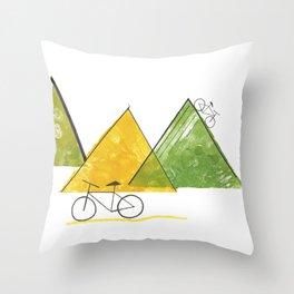 Ride Bike Throw Pillow