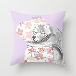 Would you be my sleepy bear? #3 Throw Pillow