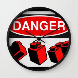 Danger Bricks by Chillee Wilson Wall Clock