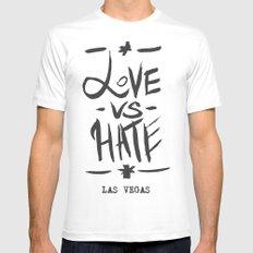 Love VS Hate - Las Vegas - Mens Fitted Tee White MEDIUM