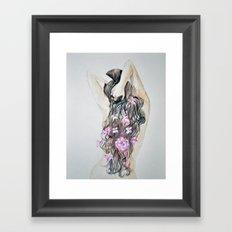 Spring woman, watercolor Framed Art Print