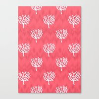 coral Canvas Prints featuring Coral by Marta Li