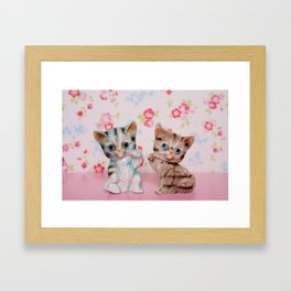 Hello kitties Framed Art Print