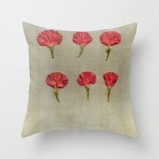 Nature petals Throw Pillow