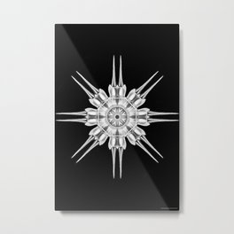 Ninja Star 4 Metal Print
