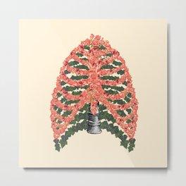 Floral ribcage Metal Print