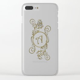 Letter A Clear iPhone Case