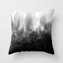 B&W Spotted Blur Throw Pillow