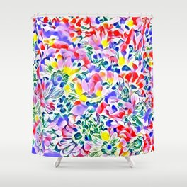 Floral Summer greetings 1A Shower Curtain
