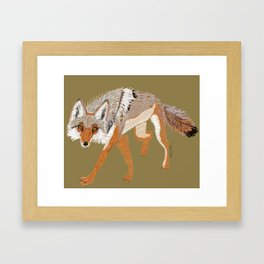 Totem Coyote Framed Art Print