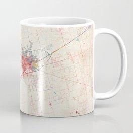 Midland map Texas painting Coffee Mug