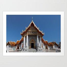 Buddhist temple Bangkok Art Print