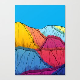 Colour outside the mountains Canvas Print