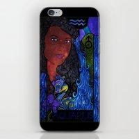 aquarius iPhone & iPod Skins featuring Aquarius by Laura Jean