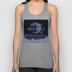 Stay wild moon child (purple) Unisex Tank Top