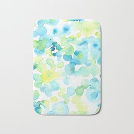 Green and Yellow Bubbly Bubbles Bath Mat
