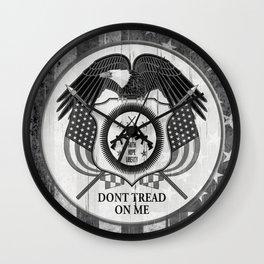 Faith Hope Liberty & Freedom Eagle on US flag Wall Clock