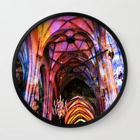 vienna Wall Clocks featuring Vienna Technicolor by Stokes Whitaker