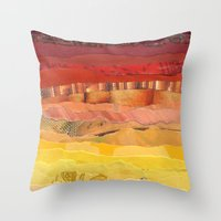 america Throw Pillows featuring America by Grace Breyley