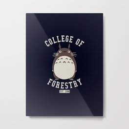 College of Forestry ghibli Metal Print