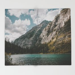 Rocky Mountains Throw Blanket