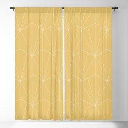 Gisela Geometric Line Pattern - Golden Blackout Curtain