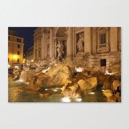 Trevi Fountain - Rome, Italy Canvas Print