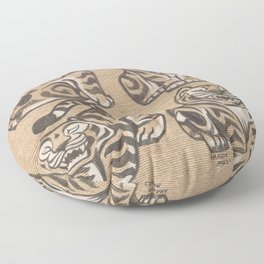Stone Tigers Floor Pillow