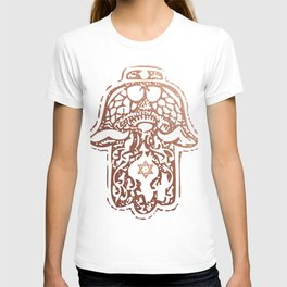 Rose Gold - Hamsa - Hand of Fatima T-shirt