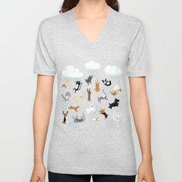 Raining Cats & Dogs Unisex V-Neck