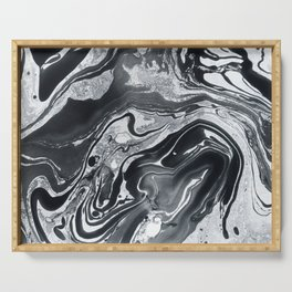 Marble in Black Ink Serving Tray