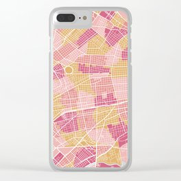 Buenos Aires map, Argentina Clear iPhone Case