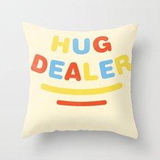 Hug Dealer Throw Pillow
