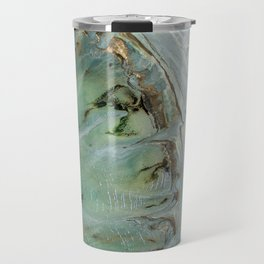 Golden Green Sea Travel Mug