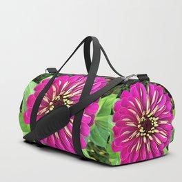 Fuchsia Zinnia Duffle Bag