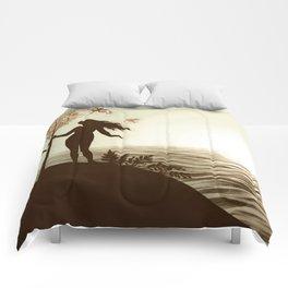 Adam and Eve (Landscape) Comforters
