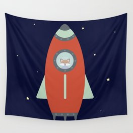 Fox Rocket Wall Tapestry