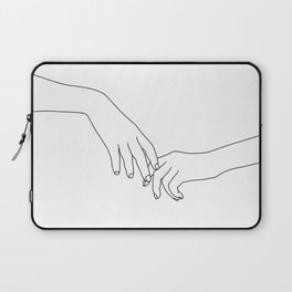 Hands line drawing illustration - Daily Laptop Sleeve