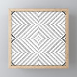 Stripe Geometric Diamond Framed Mini Art Print