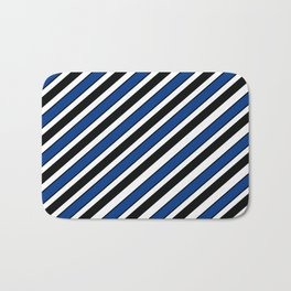 TEAM COLORS 1…Black, navy and white team  colors Bath Mat