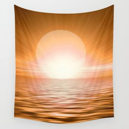 Big Bold Brilliant Sunset On The Seas #society6 #buyart Wall Tapestry