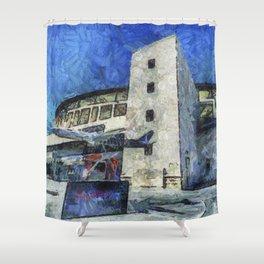 Besiktas Stadium Art Shower Curtain