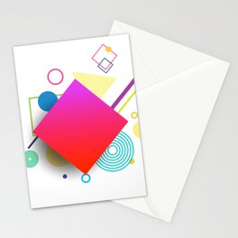 Displaced Geometry Stationery Cards