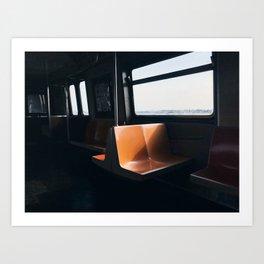 On my way / New York City subway Art Print