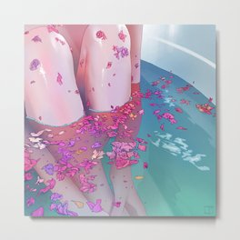 Flower Bath 4 Metal Print