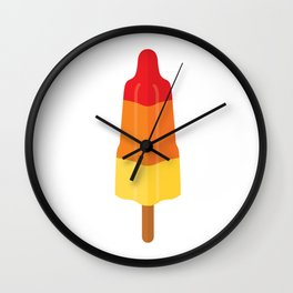 Rocket ice cream on white Wall Clock