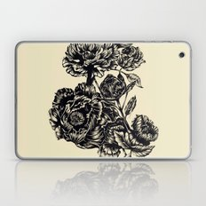 Peonies, black & white  Laptop & iPad Skin